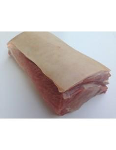 Bőrös sertés karajfilé, friss